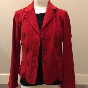 Xs petite Kim Rogers signature red blazer